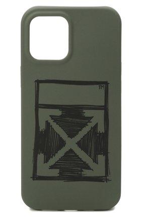 Чехол для iphone 12 pro OFF-WHITE хаки цвета, арт. 0MPA026F21PLA002 | Фото 1