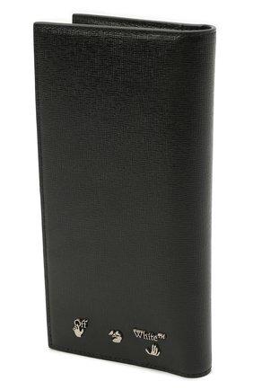 Мужской кожаное портмоне OFF-WHITE черного цвета, арт. 0MNC033F21LEA001   Фото 2