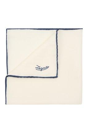Мужской платок из хлопка и шелка ERMENEGILDO ZEGNA синего цвета, арт. Z2J07A/38B | Фото 1 (Материал: Текстиль, Шелк, Хлопок)