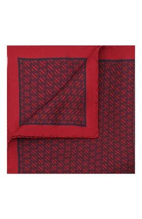Мужской шелковый платок ERMENEGILDO ZEGNA красного цвета, арт. Z2J06A/39A   Фото 1 (Материал: Текстиль, Шелк)