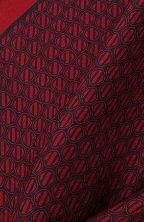 Мужской шелковый платок ERMENEGILDO ZEGNA красного цвета, арт. Z2J06A/39A   Фото 2 (Материал: Текстиль, Шелк)