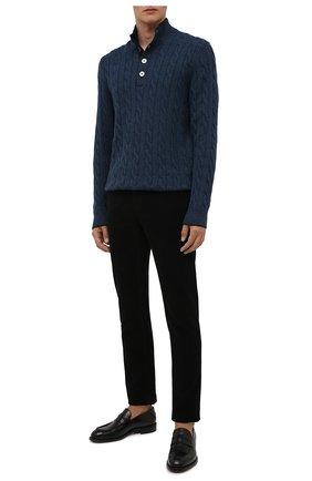Мужские хлопковые брюки Z ZEGNA черного цвета, арт. VY719/ZZ530   Фото 2 (Материал внешний: Хлопок; Случай: Повседневный; Стили: Кэжуэл; Длина (брюки, джинсы): Стандартные)