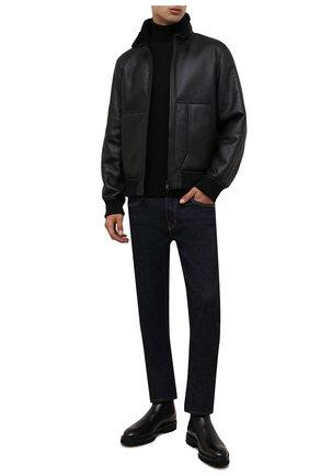 Мужская дубленка Z ZEGNA черного цвета, арт. VY091/ZZ950   Фото 2 (Материал внешний: Натуральный мех; Длина (верхняя одежда): Короткие; Стили: Классический; Рукава: Длинные)