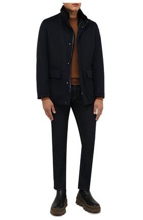 Мужская кашемировая куртка с меховой подкладкой KIRED темно-синего цвета, арт. WSALTAW681801900S | Фото 2 (Материал внешний: Кашемир, Шерсть; Кросс-КТ: Куртка; Рукава: Длинные; Длина (верхняя одежда): До середины бедра; Мужское Кросс-КТ: шерсть и кашемир, утепленные куртки; Стили: Классический)