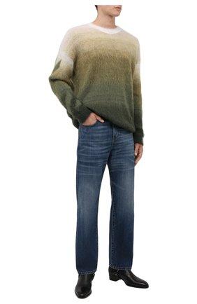 Мужские джинсы SAINT LAURENT синего цвета, арт. 653902/Y19JA | Фото 2