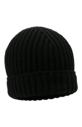 Мужская кашемировая шапка SVEVO черного цвета, арт. 0188SA21/MP01/2   Фото 1 (Материал: Кашемир, Шерсть; Кросс-КТ: Трикотаж)