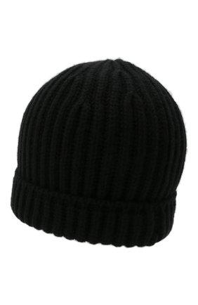 Мужская кашемировая шапка SVEVO черного цвета, арт. 0188SA21/MP01/2   Фото 2 (Материал: Кашемир, Шерсть; Кросс-КТ: Трикотаж)