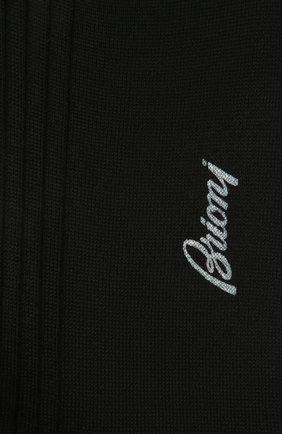Мужские шерстяные носки BRIONI синего цвета, арт. 0VMC00/09Z01 | Фото 2 (Материал внешний: Шерсть; Кросс-КТ: бельё)