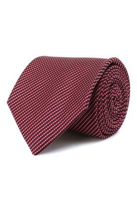 Мужской шелковый галстук BRIONI красного цвета, арт. 062H00/01461   Фото 1 (Материал: Текстиль, Шелк; Принт: С принтом)
