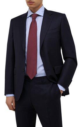 Мужской шелковый галстук BRIONI красного цвета, арт. 062H00/01461   Фото 2 (Материал: Текстиль, Шелк; Принт: С принтом)