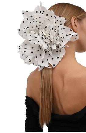 Женская брошь pion FLOWER ME белого цвета, арт. PION -NS004015L | Фото 2 (Материал: Текстиль)