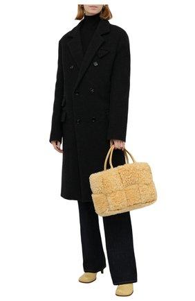 Женские кожаные ботильоны the block BOTTEGA VENETA  цвета, арт. 667208/VBS00 | Фото 2 (Материал внутренний: Натуральная кожа; Каблук тип: Шпилька; Каблук высота: Средний; Подошва: Плоская)