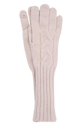 Женские кашемировые перчатки LORO PIANA кремвого цвета, арт. FAI8570 | Фото 1 (Материал: Шерсть, Кашемир)
