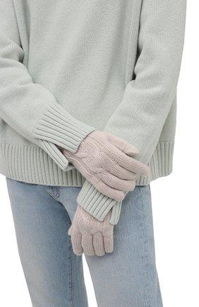 Женские кашемировые перчатки LORO PIANA кремвого цвета, арт. FAI8570 | Фото 2 (Материал: Шерсть, Кашемир)