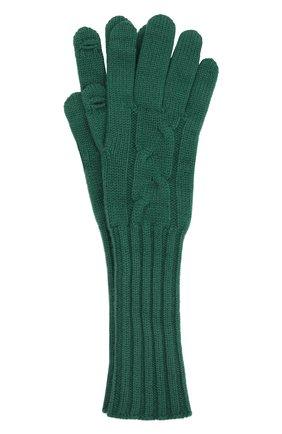 Женские кашемировые перчатки LORO PIANA изумрудного цвета, арт. FAI8570 | Фото 1 (Материал: Шерсть, Кашемир)