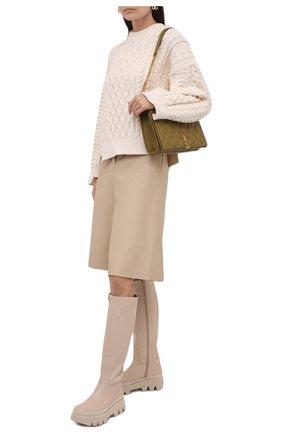 Женские кожаные сапоги ida PALOMA BARCELO светло-бежевого цвета, арт. IDA NAPAS0FT | Фото 2