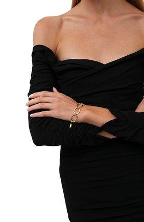 Женский браслет SAINT LAURENT золотого цвета, арт. 667104/Y1500   Фото 2 (Материал: Металл)