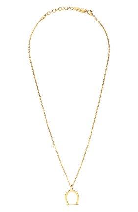 Женская подвеска на цепочке SAINT LAURENT золотого цвета, арт. 669056/Y1500 | Фото 1 (Материал: Металл)