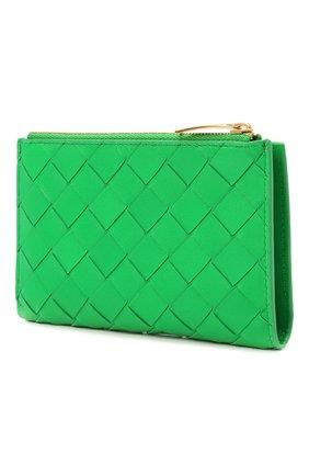 Женские кожаное портмоне BOTTEGA VENETA зеленого цвета, арт. 667468/VCPP2 | Фото 2 (Кросс-КТ: другое)
