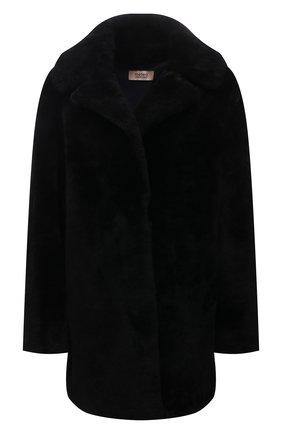 Женская шуба из овчины METEO YVES SALOMON черного цвета, арт. 9WMM61880MERC | Фото 1