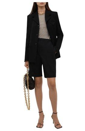 Женский пуловер из вискозы VALENTINO золотого цвета, арт. WB3KC25B6MM   Фото 2 (Материал внешний: Вискоза; Длина (для топов): Стандартные; Рукава: Длинные; Стили: Кэжуэл; Женское Кросс-КТ: Пуловер-одежда)