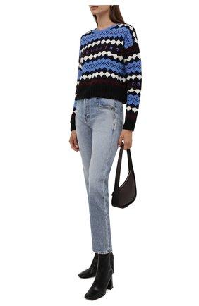 Женский шерстяной свитер VALENTINO голубого цвета, арт. WB3KC24T6LU   Фото 2 (Длина (для топов): Стандартные; Рукава: Длинные; Материал внешний: Шерсть; Стили: Кэжуэл; Женское Кросс-КТ: Свитер-одежда)