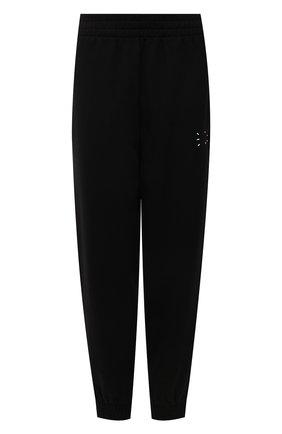 Женские хлопковые джоггеры MCQ черного цвета, арт. 676944/RQR20   Фото 1 (Материал внешний: Хлопок; Длина (брюки, джинсы): Стандартные; Стили: Спорт-шик; Женское Кросс-КТ: Джоггеры - брюки, Брюки-спорт; Силуэт Ж (брюки и джинсы): Джоггеры)