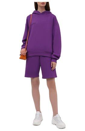 Мужского хлопковое худи PANGAIA фиолетового цвета, арт. 20FHU01-056-FM0R02 | Фото 2 (Стили: Спорт-шик; Женское Кросс-КТ: Худи-одежда, Худи-спорт)