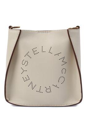 Женская сумка stella logo small STELLA MCCARTNEY кремвого цвета, арт. 700265/W8542 | Фото 1 (Материал: Экокожа, Текстиль; Ремень/цепочка: На ремешке; Размер: small; Сумки-технические: Сумки через плечо)