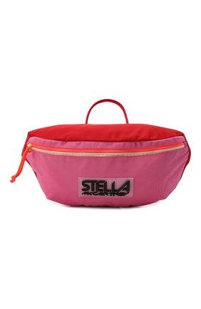Женская поясная сумка STELLA MCCARTNEY розового цвета, арт. 700243/W8845 | Фото 1 (Размер: large; Материал: Текстиль; Ремень/цепочка: На ремешке; Стили: Спорт)