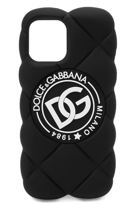 Чехол для iphone 12 pro max DOLCE & GABBANA черного цвета, арт. BI3029/AQ374 | Фото 1