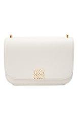 Женская сумка goya small LOEWE белого цвета, арт. A896N09X01 | Фото 1 (Материал: Натуральная кожа; Сумки-технические: Сумки через плечо; Ремень/цепочка: На ремешке; Размер: small)