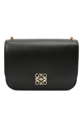 Женская сумка goya small LOEWE черного цвета, арт. A896N09X01   Фото 1 (Материал: Натуральная кожа; Сумки-технические: Сумки через плечо; Ремень/цепочка: На ремешке; Размер: small)