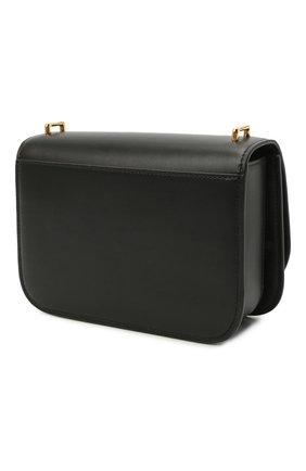 Женская сумка goya small LOEWE черного цвета, арт. A896N09X01   Фото 2 (Материал: Натуральная кожа; Сумки-технические: Сумки через плечо; Ремень/цепочка: На ремешке; Размер: small)