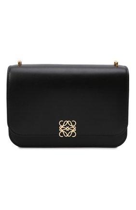 Женская сумка goya LOEWE черного цвета, арт. A896N01X03 | Фото 1 (Материал: Натуральная кожа; Сумки-технические: Сумки через плечо; Размер: medium, small; Ремень/цепочка: На ремешке)