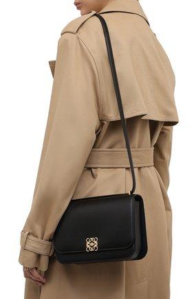 Женская сумка goya LOEWE черного цвета, арт. A896N01X03   Фото 2 (Материал: Натуральная кожа; Сумки-технические: Сумки через плечо; Размер: medium, small; Ремень/цепочка: На ремешке)