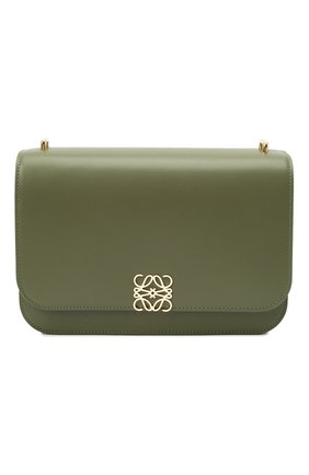 Женская сумка goya LOEWE зеленого цвета, арт. A896N01X03 | Фото 1 (Материал: Натуральная кожа; Сумки-технические: Сумки через плечо; Размер: medium, small; Ремень/цепочка: На ремешке)