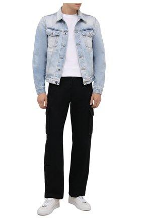 Мужская джинсовая куртка OFF-WHITE голубого цвета, арт. 0MYE054F21DEN001 | Фото 2