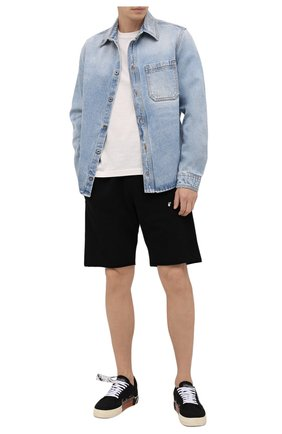 Мужские текстильные кеды vulcanized OFF-WHITE черного цвета, арт. 0MIA085F21FAB0011045 | Фото 2 (Подошва: Массивная; Материал внешний: Текстиль; Материал внутренний: Текстиль)