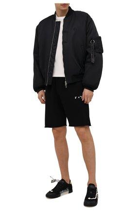 Мужские текстильные кеды vulcanized OFF-WHITE черного цвета, арт. 0MIA213F21FAB0011001 | Фото 2 (Материал внутренний: Натуральная кожа, Текстиль; Материал внешний: Текстиль; Подошва: Плоская)