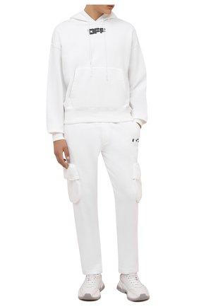 Мужские хлопковые брюки-карго OFF-WHITE белого цвета, арт. 0MCH036F21FLE001 | Фото 2