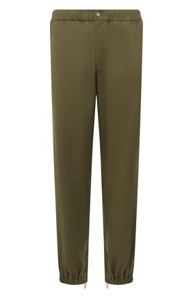 Мужские хлопковые джоггеры OFF-WHITE хаки цвета, арт. 0MCG029F21FAB001 | Фото 1 (Материал внешний: Хлопок; Силуэт М (брюки): Джоггеры; Стили: Милитари; Длина (брюки, джинсы): Стандартные)