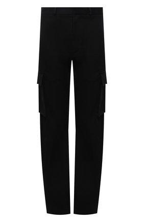 Мужские хлопковые брюки-карго OFF-WHITE черного цвета, арт. 0MCF029F21FAB001 | Фото 1 (Материал внешний: Хлопок; Случай: Повседневный; Силуэт М (брюки): Карго; Длина (брюки, джинсы): Стандартные)