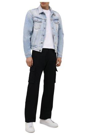 Мужские хлопковые брюки-карго OFF-WHITE черного цвета, арт. 0MCF029F21FAB001 | Фото 2 (Материал внешний: Хлопок; Случай: Повседневный; Силуэт М (брюки): Карго; Длина (брюки, джинсы): Стандартные)