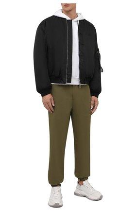 Мужской хлопковое худи OFF-WHITE белого цвета, арт. 0MBB034F21FLE002 | Фото 2 (Материал внешний: Хлопок; Длина (для топов): Стандартные; Рукава: Длинные; Мужское Кросс-КТ: Худи-одежда; Принт: С принтом; Стили: Гранж)