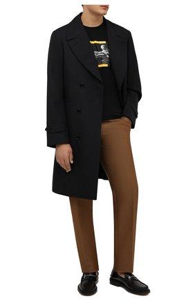 Мужская хлопковая футболка OFF-WHITE черного цвета, арт. 0MAA120F21JER008 | Фото 2 (Материал внешний: Хлопок; Принт: С принтом; Рукава: Короткие; Длина (для топов): Стандартные)