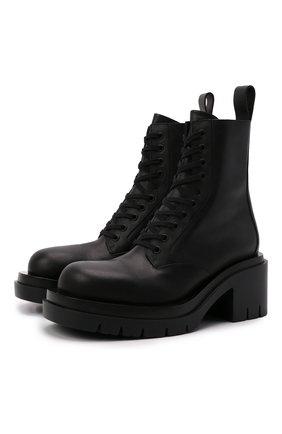 Женские кожаные ботинки bv lug BOTTEGA VENETA черного цвета, арт. 667145/VBS50 | Фото 1 (Подошва: Платформа; Каблук высота: Средний; Материал внутренний: Натуральная кожа; Каблук тип: Устойчивый; Женское Кросс-КТ: Военные ботинки)