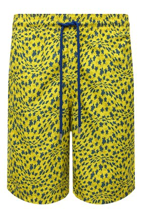 Мужские плавки-шорты VILEBREQUIN желтого цвета, арт. OKOH1B20/105 | Фото 1 (Материал внешний: Синтетический материал; Мужское Кросс-КТ: плавки-шорты; Принт: С принтом)