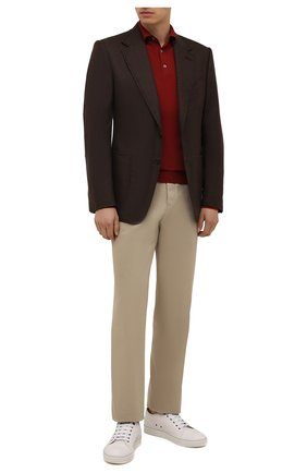 Мужской пиджак из шерсти и кашемира TOM FORD коричневого цвета, арт. 228R02/10SP40 | Фото 2 (Материал подклада: Хлопок, Купро; Материал внешний: Шерсть; Случай: Коктейльный; Пиджаки М: Приталенный; 1-2-бортные: Однобортные; Рукава: Длинные; Длина (для топов): Стандартные)