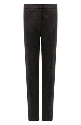Мужские брюки из кашемира и шерсти MARCO PESCAROLO коричневого цвета, арт. CHIAIAM/ZIP+RIS/4458 | Фото 1 (Длина (брюки, джинсы): Стандартные; Материал внешний: Шерсть, Кашемир; Случай: Повседневный; Стили: Кэжуэл; Big sizes: Big Sizes)